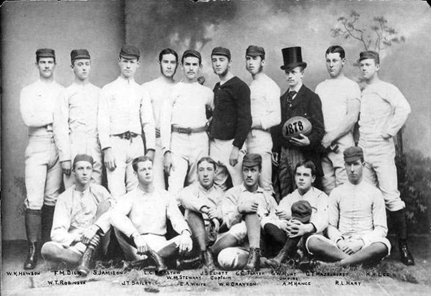 The 1878 Penn Rugby team