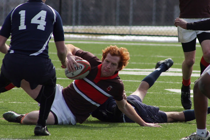 First Team All-Ivy Rugby Conference Dow Travers of Brown vs Yale Fall 2011