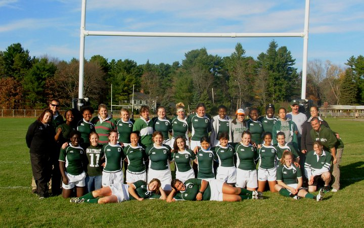 Dartmouth Women's Rugby, just after defeating Cornell to earn a bid to the 2011