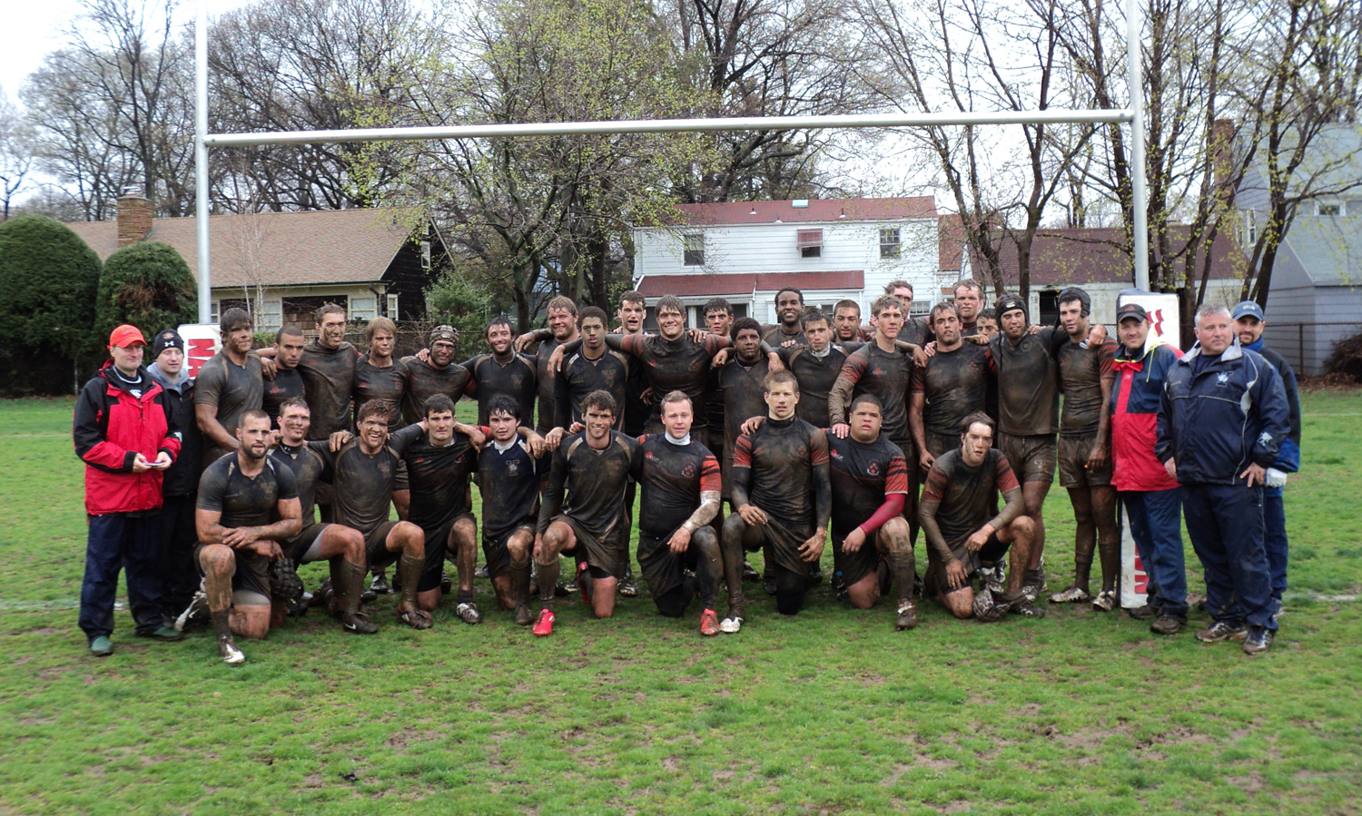 Both Princeton and Yale lineup for a 'team' photo after the 2011 Koranda Cup