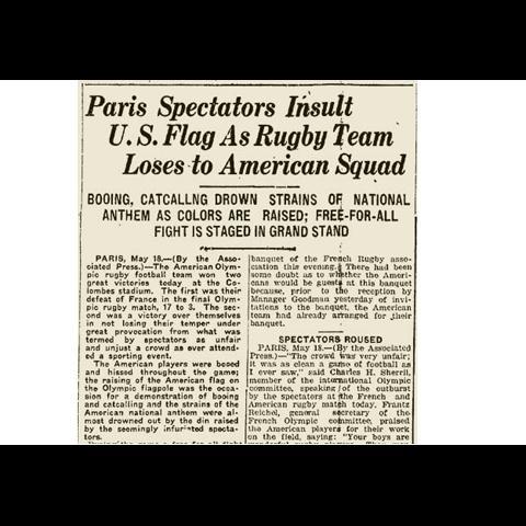 USA Team 1924 Olympic Stadium Paris