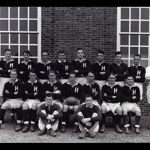 Harvard Men's Rugby team in 1942