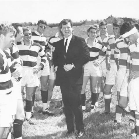 Former Harvard rugger Senator Ted Kennedy