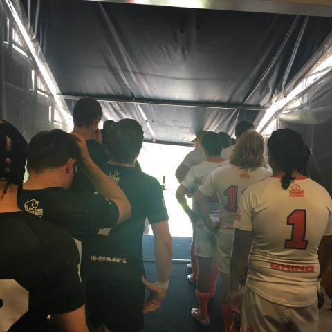 Dartmouth and Clemson prepare to take the field.