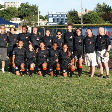 Summer 2011 Princeton Women's rugby team