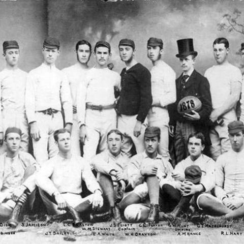 The 1878 Penn Rugby team