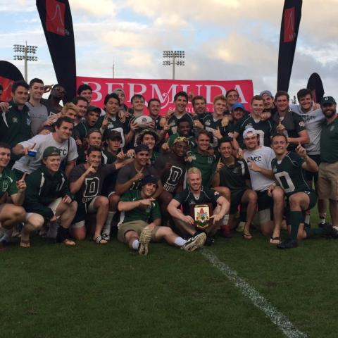 Dartmouth celebrates their Cup victory