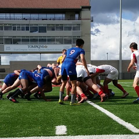 Rugby Scrum at Schoellkopf Field