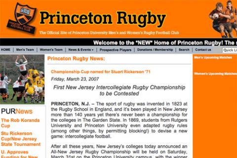 Featured Web site: www.princetonrugby.org