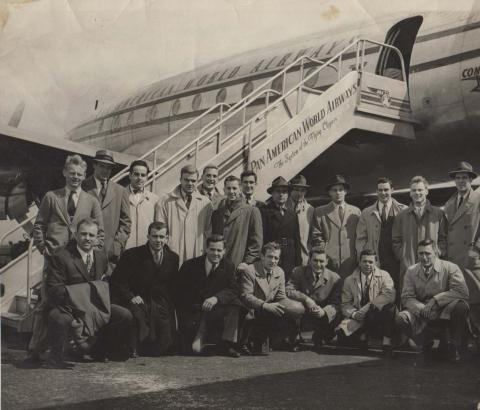 1947 Yale Rugby Team Travels to Bermuda
