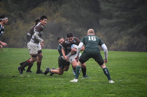 Brown Rugby's only First XV loss to date this season v Dartmouth