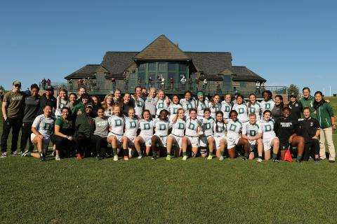 No. 2 Dartmouth women's rugby team defeated No. 4 Harvard, 22-8
