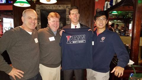 Ross Engelman, Tom Lamb, Coner Lamb, Penn Rugby President: Nathan Xu