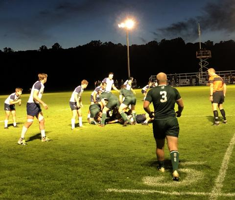 Dartmouth Rugby traveld to Yale for a Friday night contest