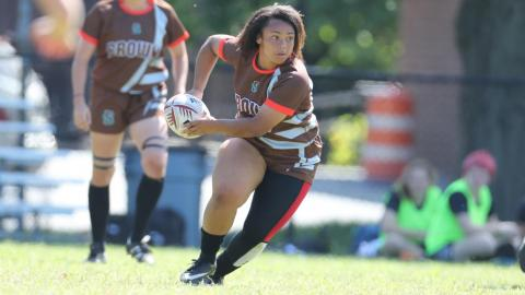 Brown women's rugby team was defeated by Dartmouth, 98-7
