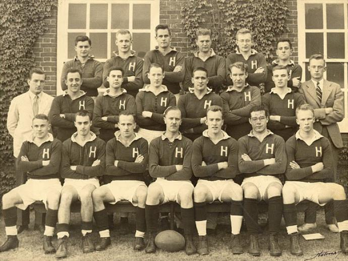 Harvard Rugby 1950 team