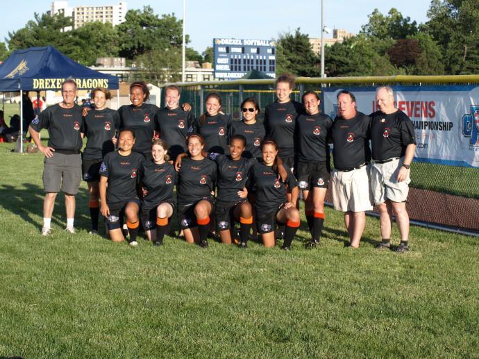 Summer 2011 Princeton Women's rugby team