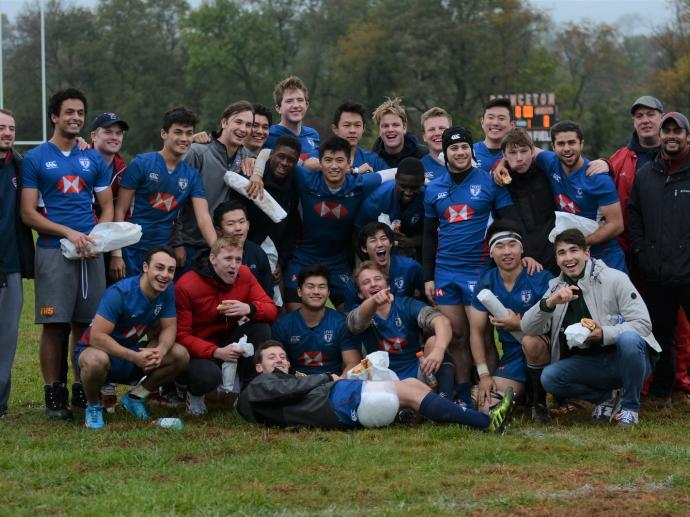 Penn Men's Rugby team at Princeton University