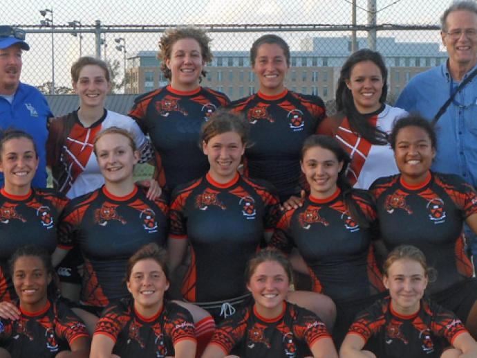Princeton women at USA Rugby 7s in Texas