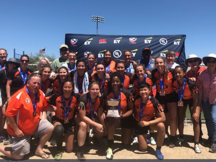 Princeton women's rugby take home hardware at the USA Rugby National 7s tournament