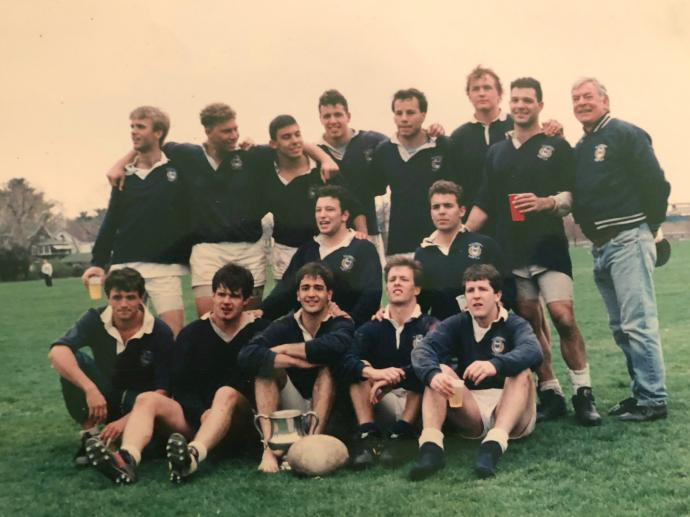 Yale with coach Malcolm Cormack 1991