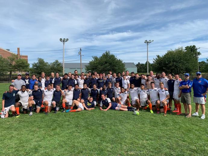 full preseason Yale men's rugby squad